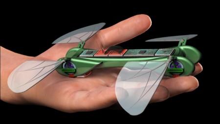 Dragonfly micro surveillance robot