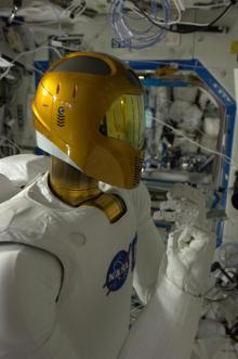 Robonaut reporting for duty aboard Int'l Space Station, Jan 5, 2013